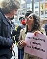 Flickr - NewsPhoto! - Amsterdamse stadsreinigers protesteren bij Giro d'Italia diner (7).jpg