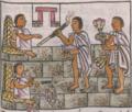 Florentine Codex Fol 28 perfumes cañas cigarros puros ceniceros.png