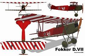 Fokker D. VII 3 vues.jpg