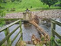 Footbridge supports, Frosterley - geograph.org.uk - 1423809.jpg