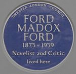 Ford Madox Ford 80 Campden Hill Road blue plaque.jpg