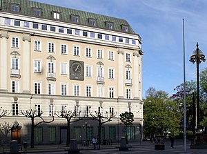 Stockholm syndrome - The location where the 1973 Norrmalmstorg robbery took place in Stockholm, Sweden (2005).