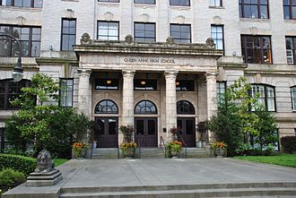 Queen Anne High School, Seattle - The former high school building (now in use for condominium units) in 2014