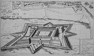 Battle of Blavet - The continued construction of Fort Louis under the walls of La Rochelle was a cause of tension.