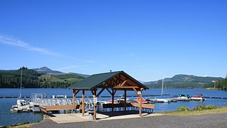 Foster Reservoir - The Edgewater Marina is located on the southwest edge of Foster Reservoir.