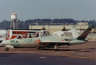 Fouga CM.170 Magister - Ex French Air Force CM170R privately operated from Boeing Field Seattle in 1998