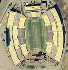 A satellite view of Foxboro Stadium