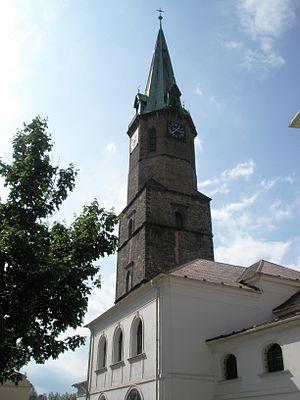 Frýdek, Frýdek-Místek - Image: Frýdek farní kostel sv. Jana