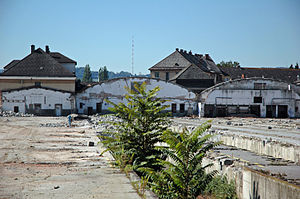 Goods station - Former goods station at Linz, Austria, shortly before its demolition (circa 2006)
