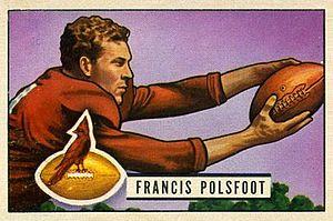 Fran Polsfoot - Polsfoot on a 1951 Bowman football card