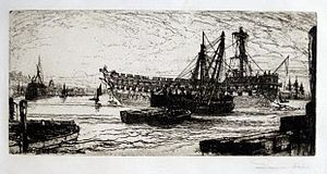 HMS Agamemnon (1852) - Agamemnon being broken up, 1870