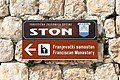 Franciscan Monastery sign, Ston.jpg