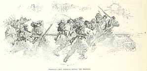 "Battle of Fredericksburg - Part of Franklin's ""Left Grand Division"" charges across the railroad"