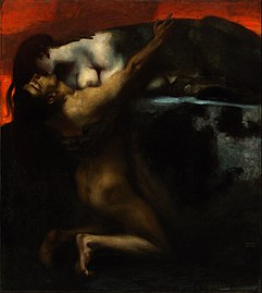 Franz von Stuck - The Kiss of the Sphinx - Google Art Project.jpg