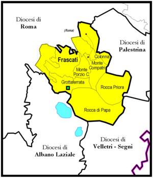 Roman Catholic Suburbicarian Diocese of Frascati - Image: Frascati diocesi