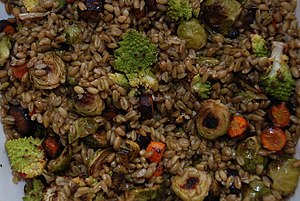 Jordanian cuisine - Freekeh with roasted vegetables
