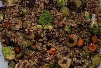 Jordanian cuisine - Freekeh with roasted vegetables