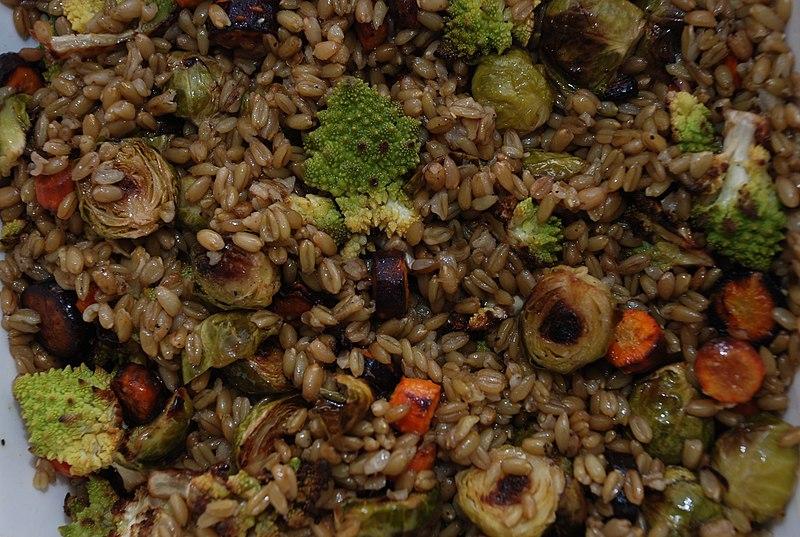 File:Freekeh with roasted vegetables.jpg