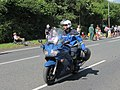 French police motor cyclist on the A61 - geograph.org.uk - 4063796.jpg