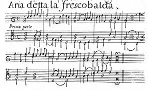 Girolamo Frescobaldi - Facsimile of Aria detta la Frescobalda (1627), the earliest known set of variations on an original theme
