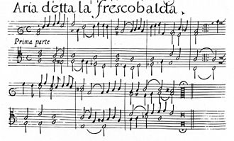 Girolamo Frescobaldi - Facsimile of Aria detta la Frescobalda (1627), the earliest known set of variations on an original theme