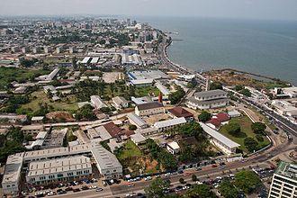 Timeline of Libreville - Aerial view of Libreville, 2012