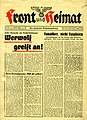 Front und Heimat April 1945 Die deutsche Soldatzeitung front page Werwolf etc Nazi Germany (No known copyright restrictions).jpg