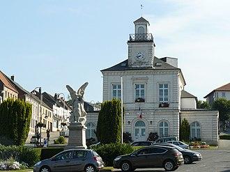 Fruges - The town hall of Fruges