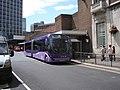 Ftr bus in New Station Street, Leeds railway station, 19018 (YJ56 EAG), 13 July 2009.jpg