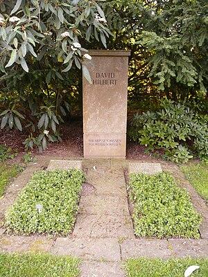 David Hilbert - Hilbert's tomb: Wir müssen wissen Wir werden wissen