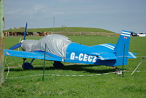AMD Zodiac - Zenair CH 601XL with tailwheel undercarriage, Rotax 912ULS engine and three blade propeller.