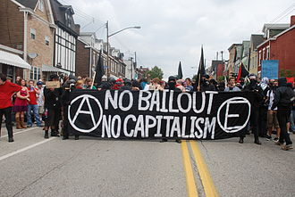 2009 G20 Pittsburgh summit - Protesters in the Lawrenceville neighborhood of Pittsburgh on September 24.