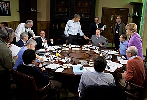 38th G8 summit - G8 Summit working session focused on global and economic issues.