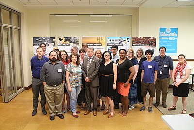 Attendees at the 2016 GLAM Boot Camp with David Ferriero, Archivist of the United States