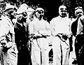 GP de Monaco 1935, de G à D Chiron, Nuvolari (noir), Dreyfus, Caracciola et Farina.jpg
