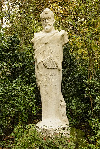 Louis-Gabriel-Charles Vicaire - Marble bust of Vicaire in the Jardin du Luxembourg, Paris, by Jean Antoine Injalbert