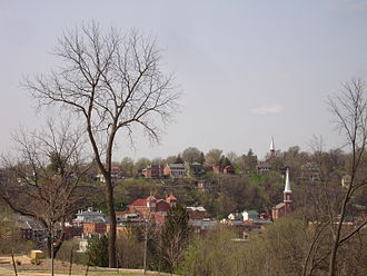 Jo Daviess County, Illinois - Downtown Galena (the county seat) viewed from the U.S. Grant Home
