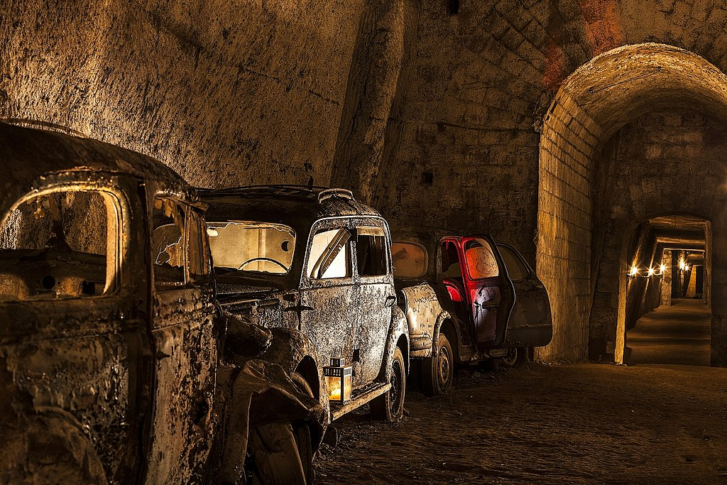 > Dans les souterrains de Naples - Photo d'Associazione Culturale Borbonica Sotterranea