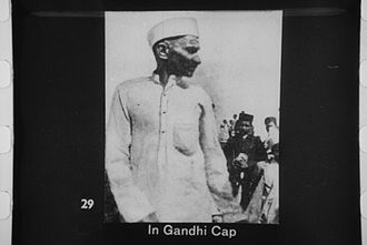 Gandhi cap - Rare photograph of Mahatma Gandhi wearing Gandhi Cap in 1920