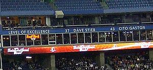 Dave Stieb - Dave Stieb's name is honoured by the Toronto Blue Jays in the Rogers Centre.