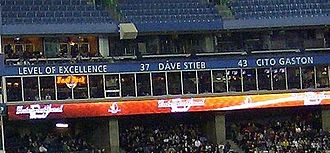 Cito Gaston - Cito Gaston's name is honoured by the Toronto Blue Jays in Rogers Centre.
