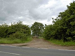 Gate into farmland off the A614 road near Finningley - geograph.org.uk - 1347134.jpg