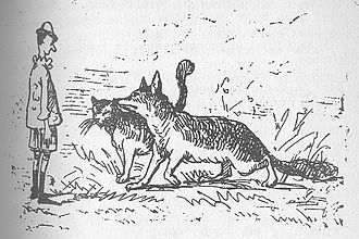 Foxes in popular culture - The Fox and the Cat in Pinocchio, as drawn by Enrico Mazzanti.