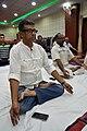Gautam Basu in Kapalabhati - International Day of Yoga Celebration - NCSM - Kolkata 2015-06-21 7422.JPG