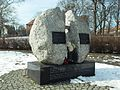 Gdańsk – pomnik zmarłych na tyfus w więzieniu przy ulicy Kurkowej.JPG