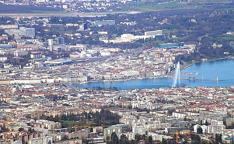 Geneva from saleve