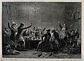 Gentlemen gathering for a joyful celebration after a foxhunt Wellcome V0021931.jpg