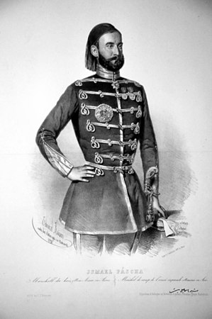 Ottoman military reforms - Ismail Pasha in a French inspired military uniform.