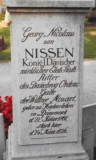 Georg Nikolaus von Nissen - Nissen's tombstone in Salzburg