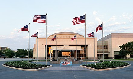 The George H.W. Bush Presidential Library and Museum on the west campus of Texas A&M University in College Station, Texas George Bush Presidential Library.jpg